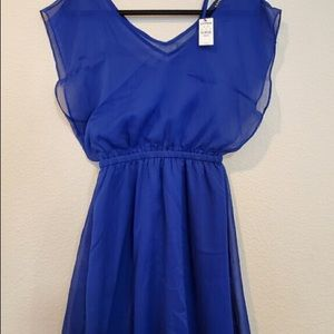 Blue cocktail dress by Express